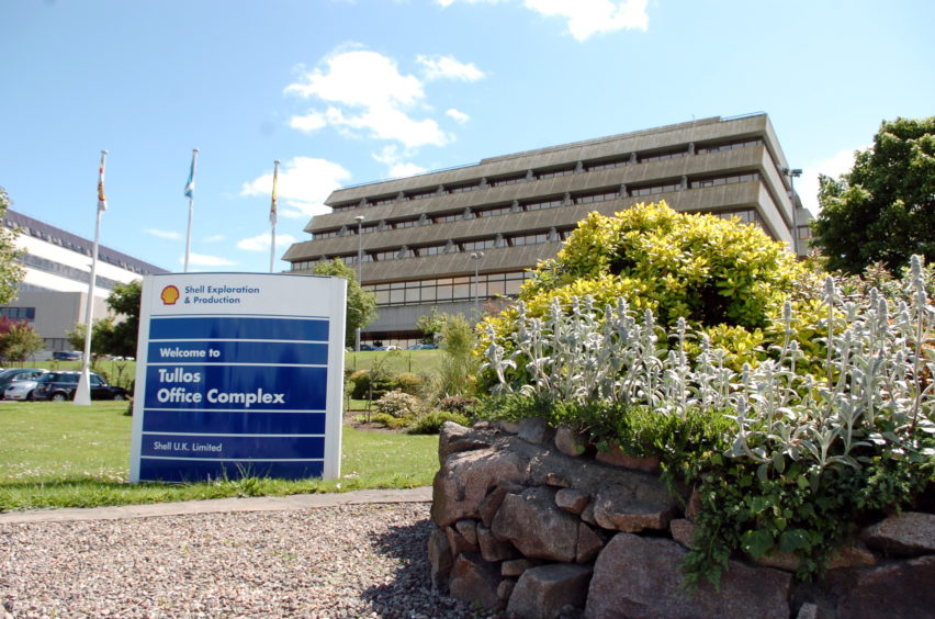 Shell's office complex at Tullos, Aberdeen.