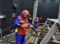 Muehlhan Industrial Services employees undertaking surface blasting.