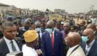 NNPC's Mele Kyari visits the Abule Egba disaster site