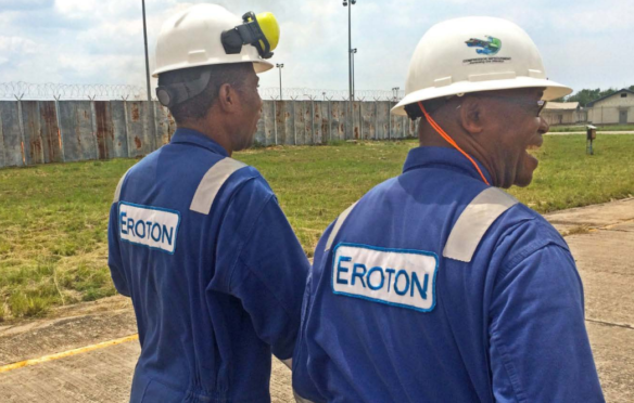 Workers for Eroton, the operator of OML 18