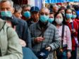 Mandatory Credit: Photo by Kevin On Man Lee/Penta Press/REX/Shutterstock (10544698g) Seniors line up for free mask distributed by a shop. There is a citywide shortage of surgical mask in Hong Kong. Coronavirus outbreak, China - 31 Jan 2020