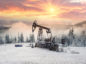 Oil production in winter.