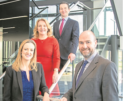 From left:  Lyn Calder, senior partner Gill Pryde, Derek Mitchell and chief executive Graeme Allan