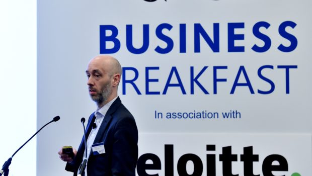 Press and Journal Business Breakfast - Mergers and Acquisitions - held at the Chester Hotel in Aberdeen. Speaker Daniel Grosvenor - Partner, Deloitte. Picture by COLIN RENNIE   20 Feb 2020.