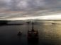 Greenpeace climbers are on a BP oil rig in Cromarty Firth,