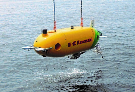 Kawasaki's SPICE AUV which is currently on trail offshore Japan and which is coming to the North Sea later this year