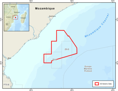 CGG has completed processing data from its 3D survey offshore Mozambique