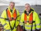 l-r): Matthias Haag, NnG Project Director, and David Webster, Forth Ports Senior Port Manager for the Ports of Dundee and Leith.  Picture Robert Perry.