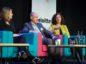 (L-R) Claire Scott, Craig Shanaghey and Teresa Waddington. Picture by Abermedia / Michal Wachucik