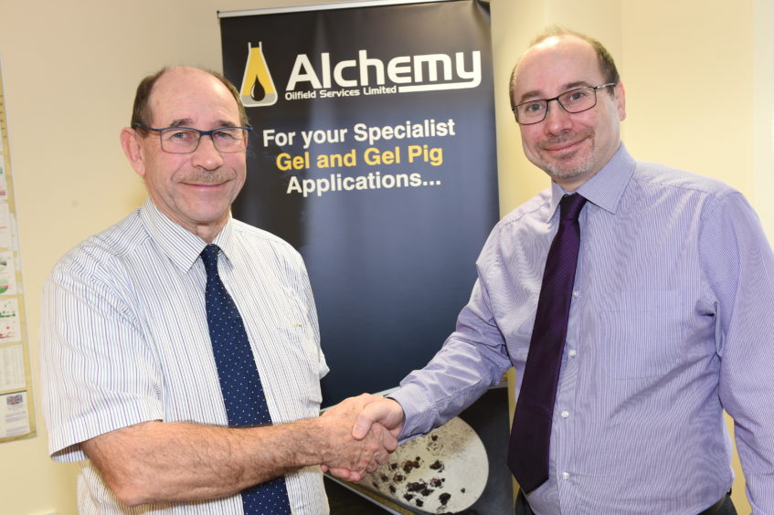 Alchemy Oilfield Services has changed hands after Duncan Murray (right) bought the business from his father Jim Murray, an industry veteran who set up the business 15 years ago.  Picture by Paul Glendell 19/02 /2020