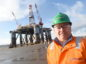 Picture by SANDY McCOOK  18th February '20 Wellsafe Guardian underegoes a major refit at the Global Energy Park at Nigg on the Cromarty Firth.   Chief Executive of Well Safe, Phil Milton.