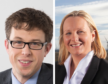 Adam Morrison of Moray West Offshore Wind Farm and Kate Turner, policy director at ScottishPower Renewables.