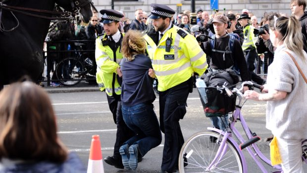 Extinction Rebellion protests in London during October 2019 Source: Energy Voice/Ed Reed