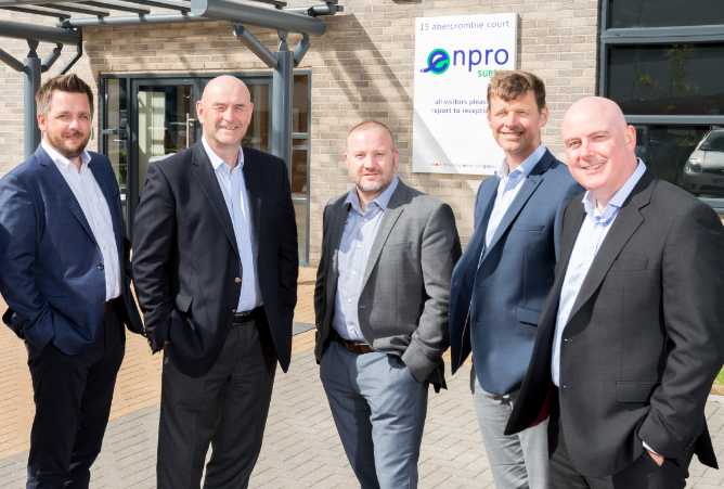 Enpro Subsea directors LtoR- Craig McDonald Ian Donald Steve Robb Neil Rogerson and Tom Bryce