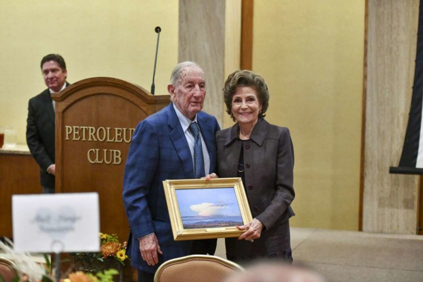 Modesta and Clayton Williams received the outstanding philanthropist award during National Philanthropy Day on Nov. 19, 2019 at the Petroleum Club of Midland. Pic: Houston Chronicle