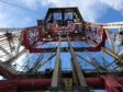 The drilling derrick on Well-Safe Guardian. Photo by Mark Lammey