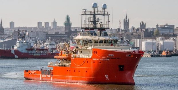 A North Star Shipping's Grampian Deliverance ERRV at Aberdeen Harbour