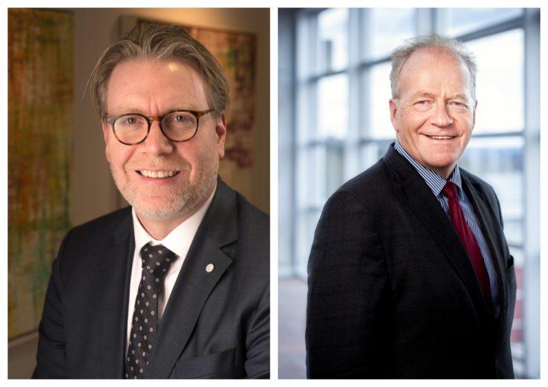 Kjetil Ebbesberg (left) succeeds Thomas Vogth-Eriksen as DNV GL's chief financial officer.