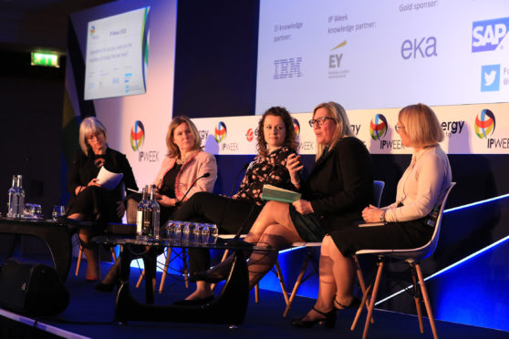 Carla Riddell, second from the right, at IP week
