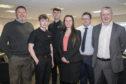 (L-R) Stuart White, Andrew Mutch, Bradley Strachan, Amanda Mason, Neil McKinnon, Paul Dorward.