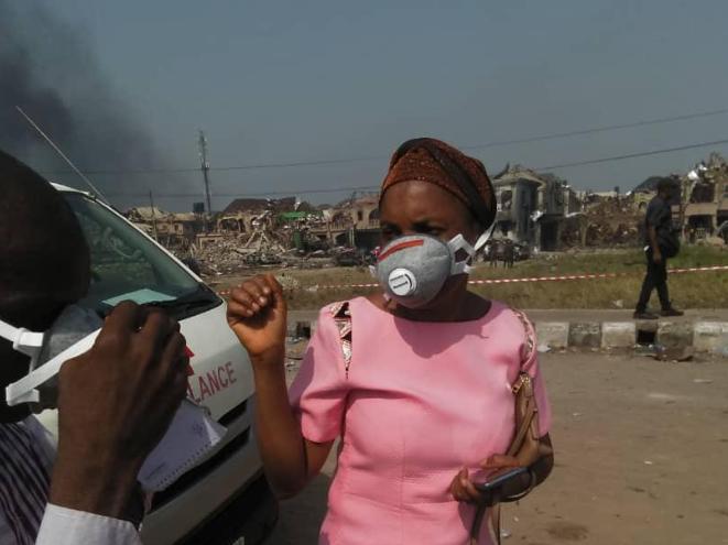 The Abule Ado explosion. Source: LASEPA