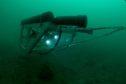 Towed video array underwater (Credit Matthew Witt).