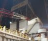 An image showing the  collapsed crane on the Valaris-operated rig.