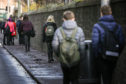 Picture shows; pupils leaving at the end of the school day. Wednesday 18th March, 2020. Mhairi Edwards/DCT Media
