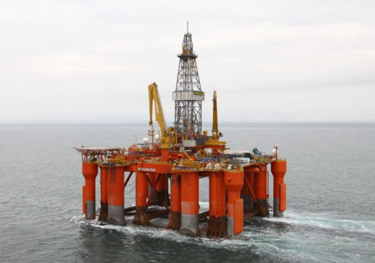 The Blackford Dolphin semisub rig. Pic: Dolphin Drilling
