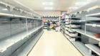 panic buying: Supermarket shelves have been picked clean of many goods across the UK since the coronavirus crisis hit