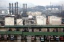 SK Corp. refinery and storage tanks are pictured in Ulsan, South Korea. Photographer: Seokyong Lee/Bloomberg