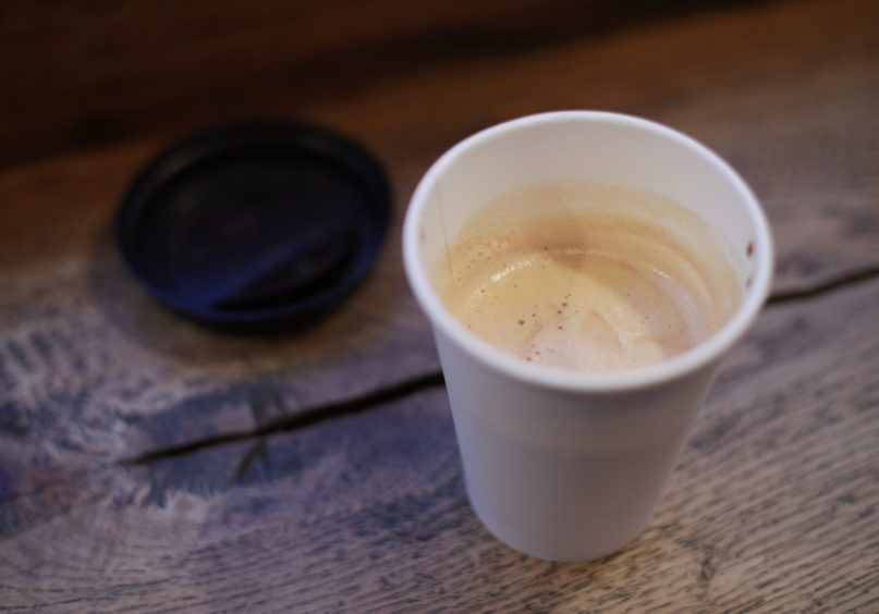 Don't be surprised if a barrel of oil gets cheaper than a latte in a while.