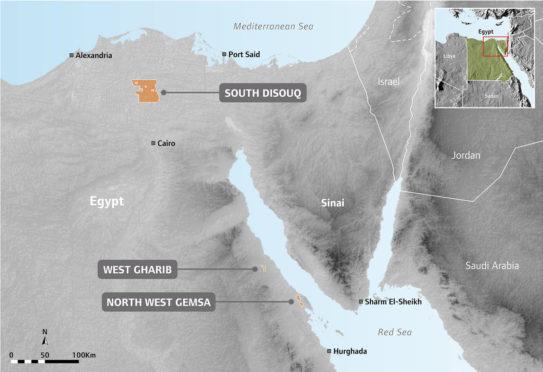 SDX Energy's assets in Egypt