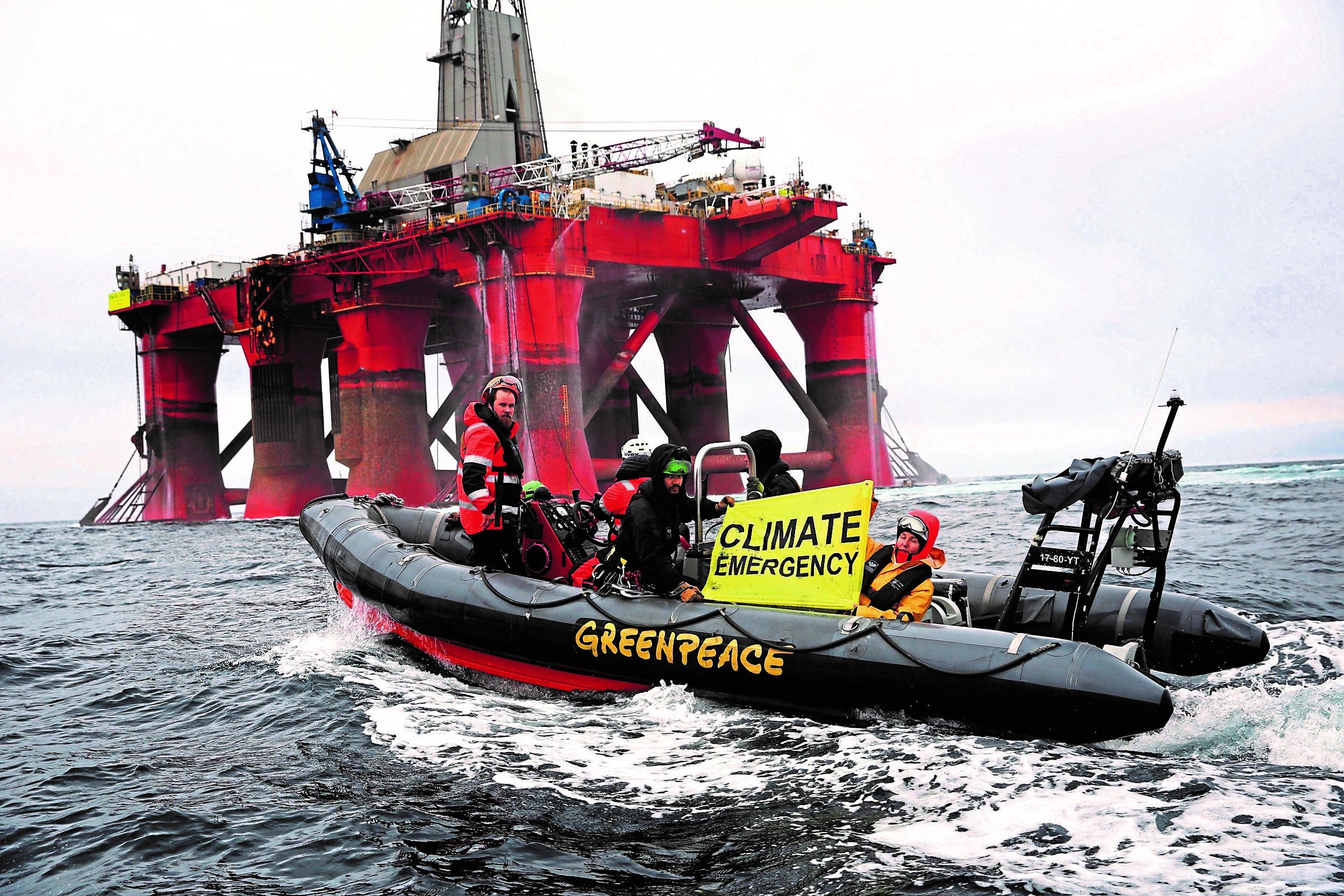 BP Greenpeace court