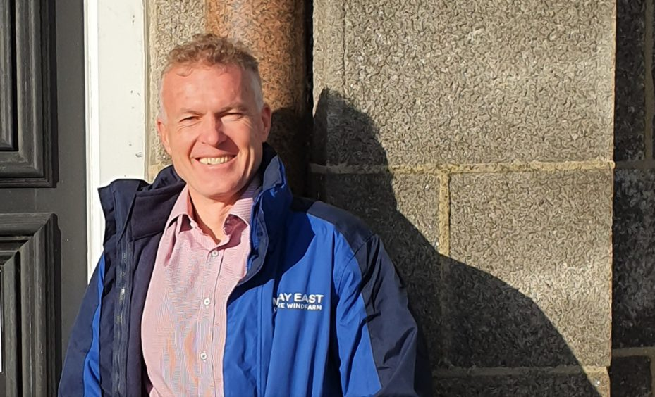 Marcel Sunier, project director for Moray East Offshore Wind Farm.