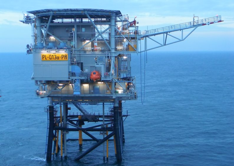 Neptune-operated Q13a platform.