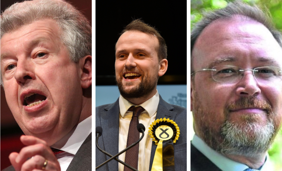 Labour's Lewis Macdonald, Stephen Flynn from the SNP and David Duguid of the Scottish Conservatives.
