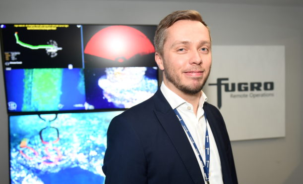 Alastair McKie, Fugro's Director for Remote Operations Europe Africa, in the remote operations centre at the firm's base in Aberdeen.