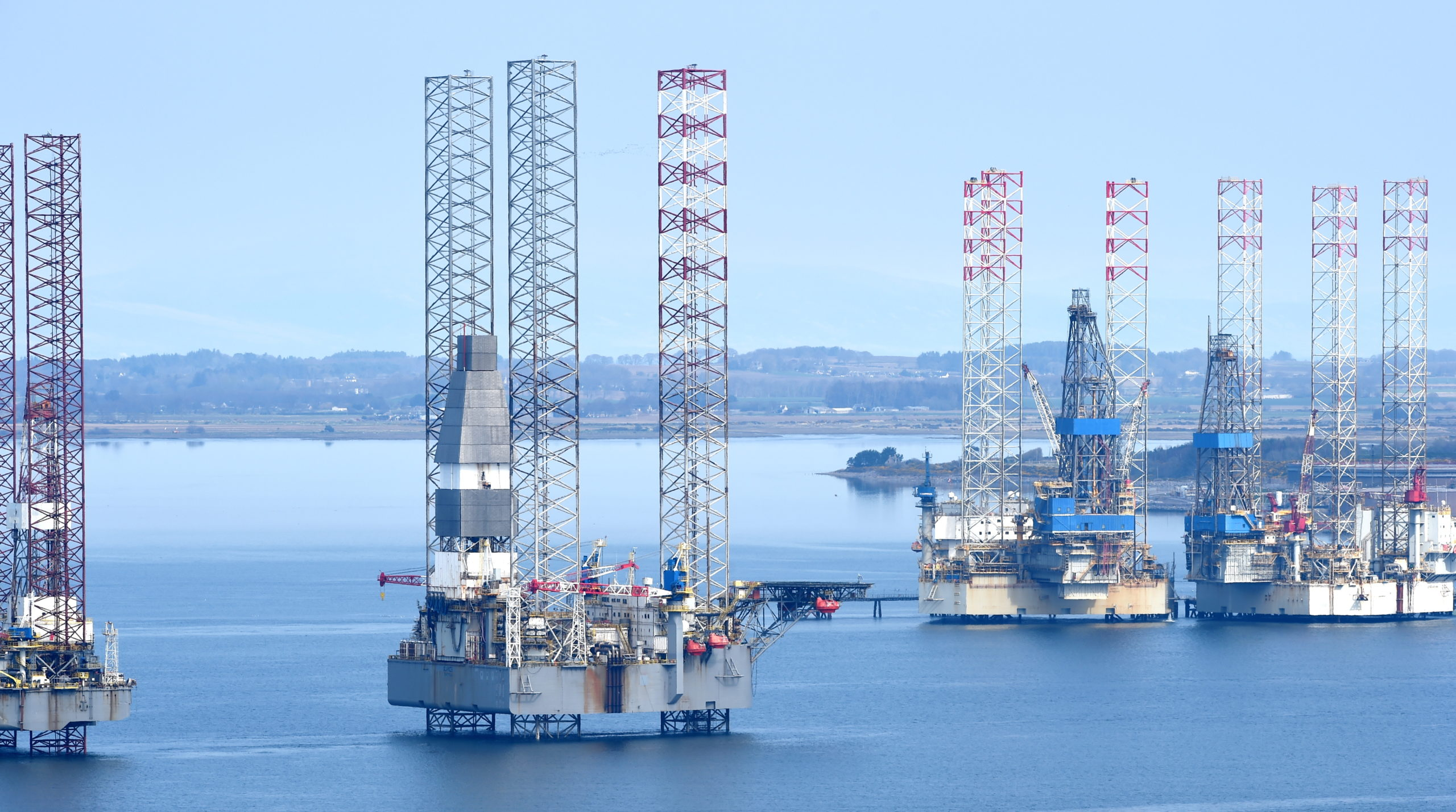 The Cromarty Firth currently hosts 14 rigs, according to local residents