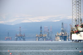 Cromarty Firth oil rig complaints spike as downturn puts vessels out of work