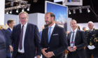 Leif Sevland, left, with HRH Crown Prince Haakon of Norway at ONS 2018.
