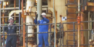 WATCH: Serica Energy workers Clap for Carers on Bruce Platform