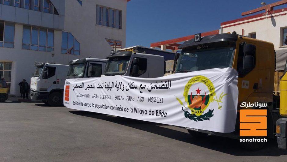 Sonatrach delivers food to Blida