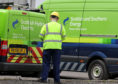 File photo of Scottish and Southern Energy signage on company vans. Photo credit should read: Andrew Milligan/PA Wire
