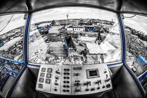 John Lawrie's Aberdeen metal processing yard.