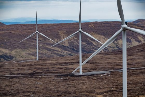SSE Renewables onshore wind farm.