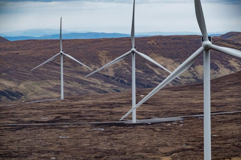 An onshore wind farm.