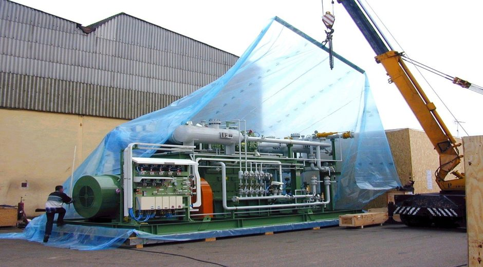Presserv packaging up equipment for mothballing. Pic: Cortec
