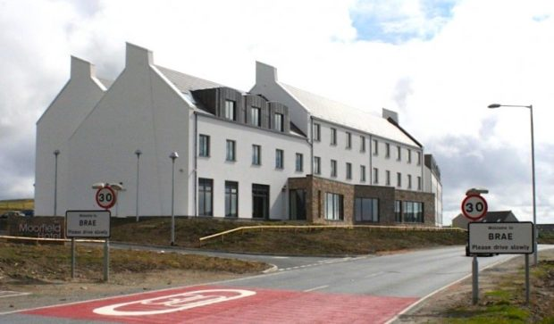 The Moorfield Hotel at the north entrance to Brae was built to accommodate Total workers.