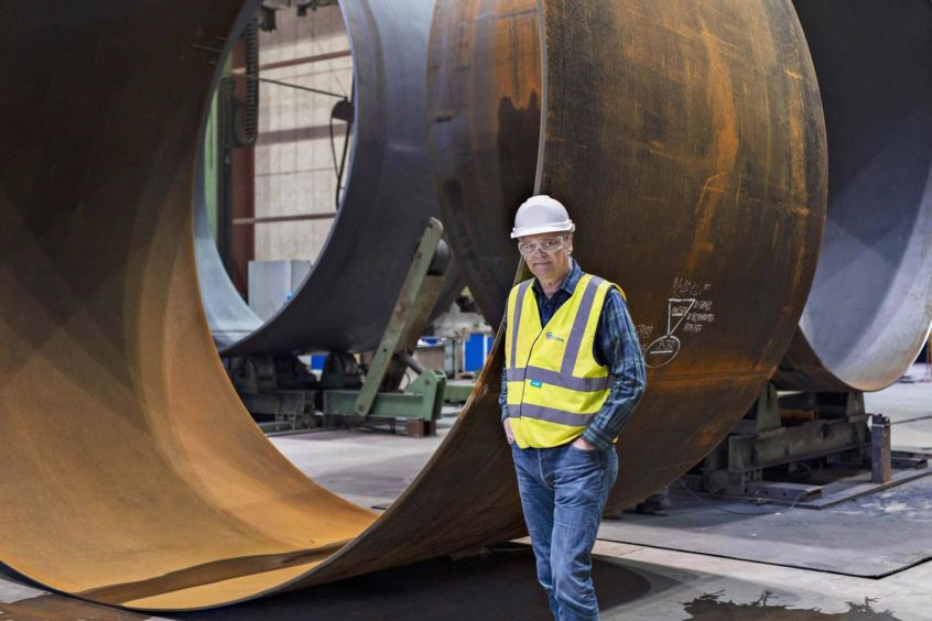 Stiesdal at the Welcon turbine tower factory. Photographer: Cathrine Ertmann/Bloomberg